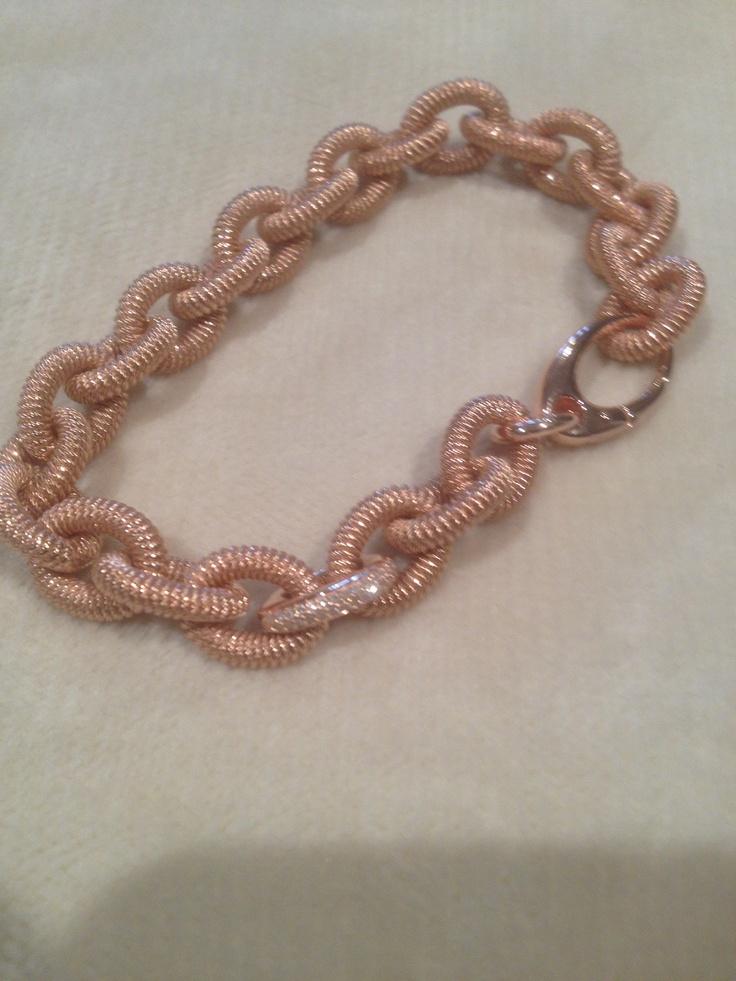 Rose gold chain link  Bracelet By, LMS GEMS
