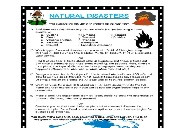 science of natural disasters assignment 6