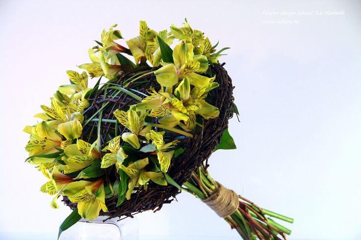 Это всего лишь альстромерия. Главное - каркас! Flower design school La Floriselle