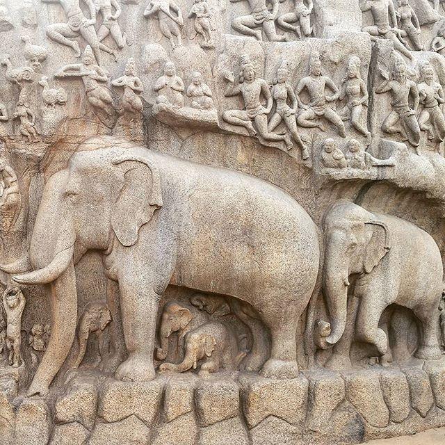 One more time, Mamallapuram, Tamilnadu, India! #art #tamil #chennai #india #archaeology #ancient #indiapictures #artsy #beautiful #historical #gallery #masterpiece #creative #hindu #history #sculpture #design #monument #heritage #dynasty #colorsofindia #carving #stonecarving #instatamil #mamallapuram #elephant #pallava