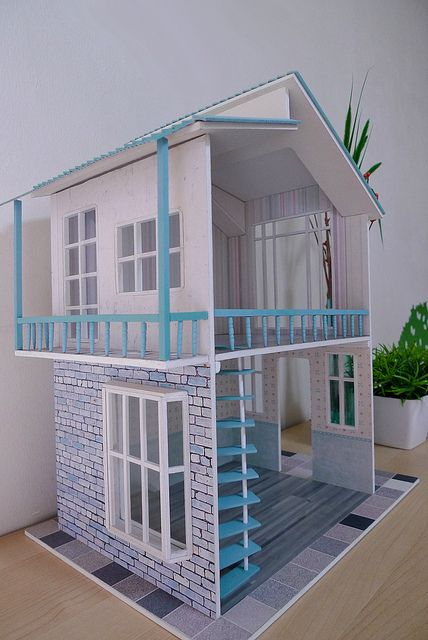 New DIY Dollhouse by thung², via Flickr  pinning for that bottom window - could be easily DIY-ed