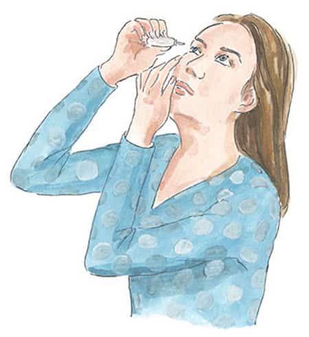 Mettez quelques gouttes dans vos yeux pour soulager la douleur