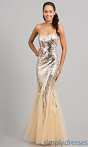 Buy Strapless Sweetheart Mermaid Sequin Dress at SimplyDresses