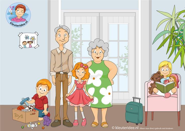 TOUCH this image: Interactieve praatplaat, thema grootouders, kleuteridee.nl by…