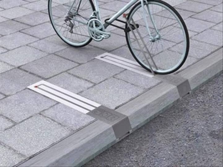 Creative anti theft bike rack.