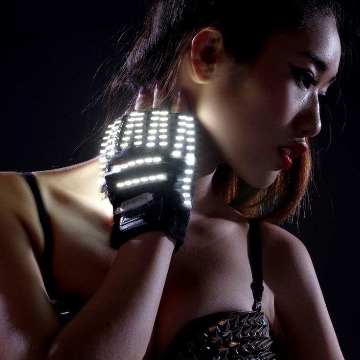 LED Gloves Laser Show Stage Props Nightclub Singer Dancer Bright LED Light Gloves for Party Supplies #Affiliate