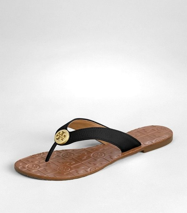 Tory Burch tumbled leather Thora Sandal--Still want these.