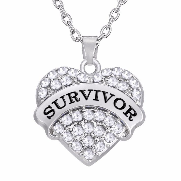 Timeless Breast/Ovarian Cancer SURVIVOR Heart Pendant Necklace *Limite – Dripping Teal