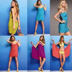 Bikini wrap that turns into a spaghetti strap dress. Get it now while supplies last.