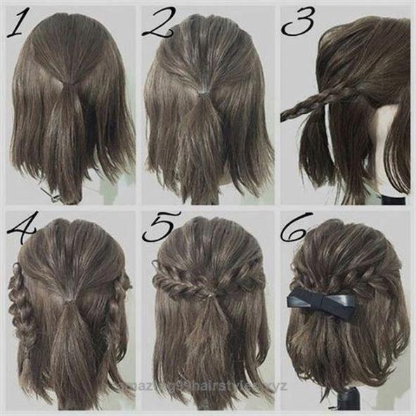 Hubsche Einfache Abschlussball Frisur Tutorials Fur Madchen Mit Kurzen Haare 1000 Frisur Dicke Haare Styling Kurzes Haar Abschlussball Frisuren