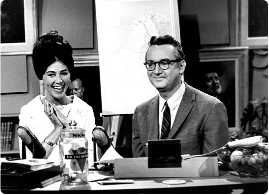 Steve Allen hosting the tonight show