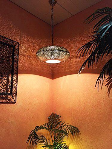 Orientalische Deckenlampe Silberfarbig Qytura Amazonde