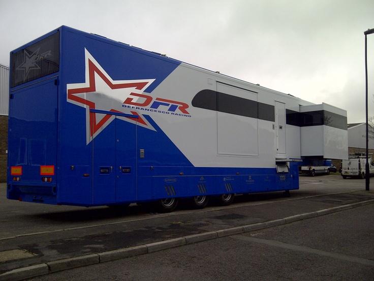 Hospitality race trailer (by Brookland Speed Ltd).
