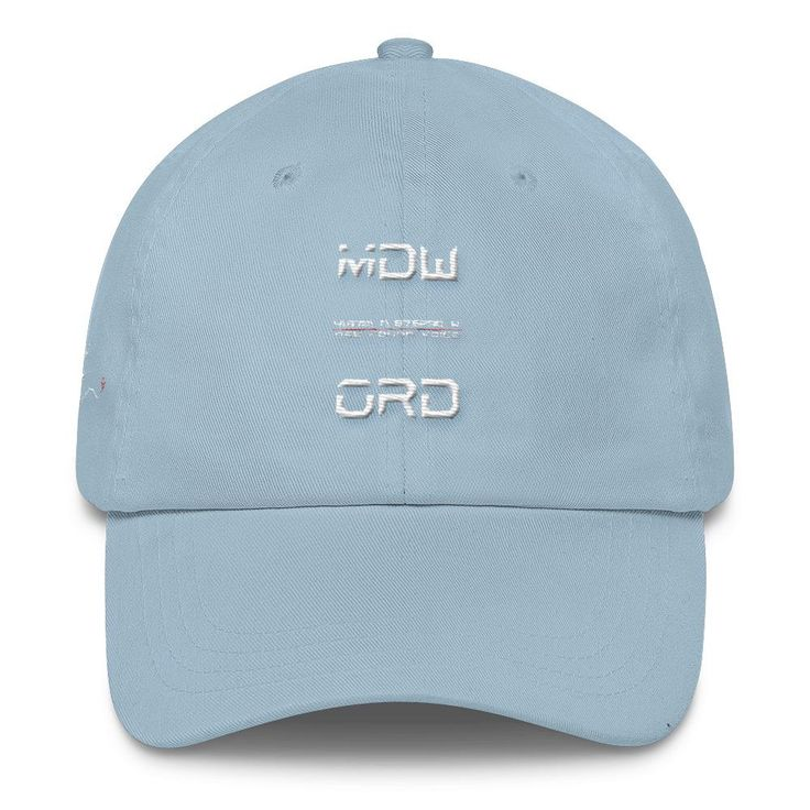 CHICAGO AIRPORT CODES MDW ORD FIND YOUR VOICE Classic Dad Cap