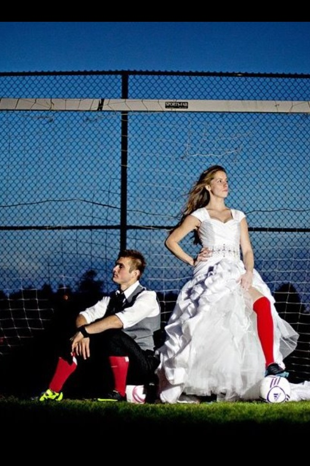 Soccer wedding - external light  I can see Samantha doing this in her future!!!!  @Samantha
