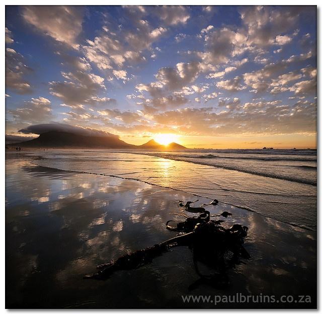 Table Mountain at Milnerton Beach, South Africa