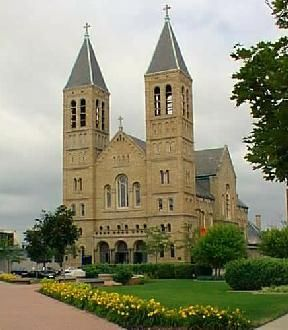 St. Bernard German Catholic Church, on the National Register of Historic Places... German-Romanesque church with baroque influences...Built in 1905...Akron, Ohio