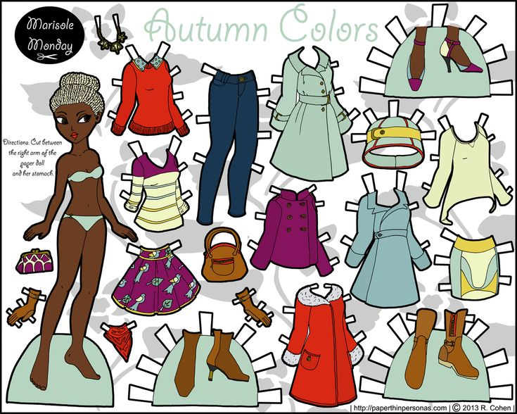marisole monday autumn color in find this pin and more on beautiful black paper dolls