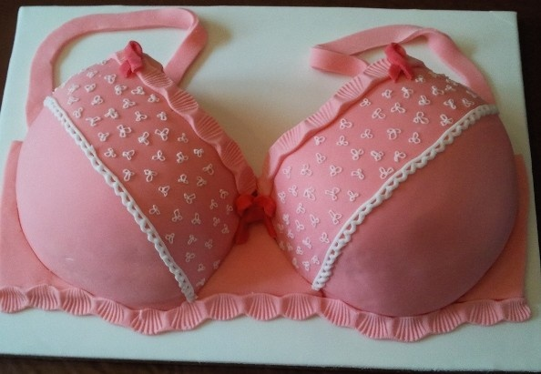 pink bra cake ..for breast cancer research