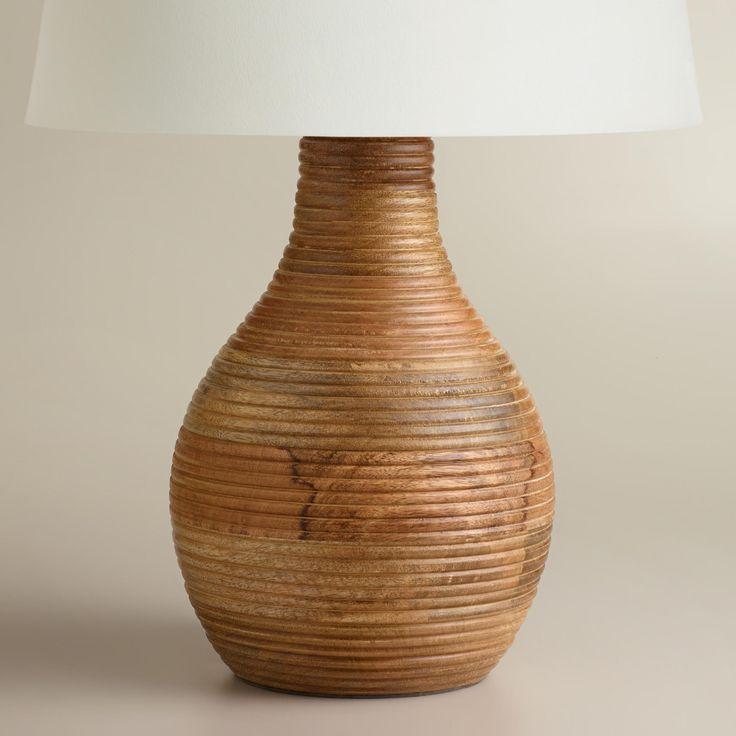 ribbed wood table lamp base. Interior Design Ideas. Home Design Ideas