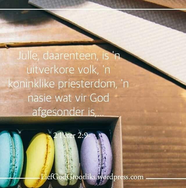 {Dawid Sy Storie Is Ons Storie} – Ondersoek Ons Eie Hart Week 7 - Vrydag - Vandag se Verse 1 Petrus 2:9-10 (ESV) 9 Julle, daarenteen, is 'n uitverkore volk, 'n koninklike priesterdom, 'n nasie wat vir God afgesonder is, die eiendomsvolk van God, die volk wat die verlossingsdade moet verkondig van Hom wat julle uit die duisternis geroep het na sy wonderbare lig.