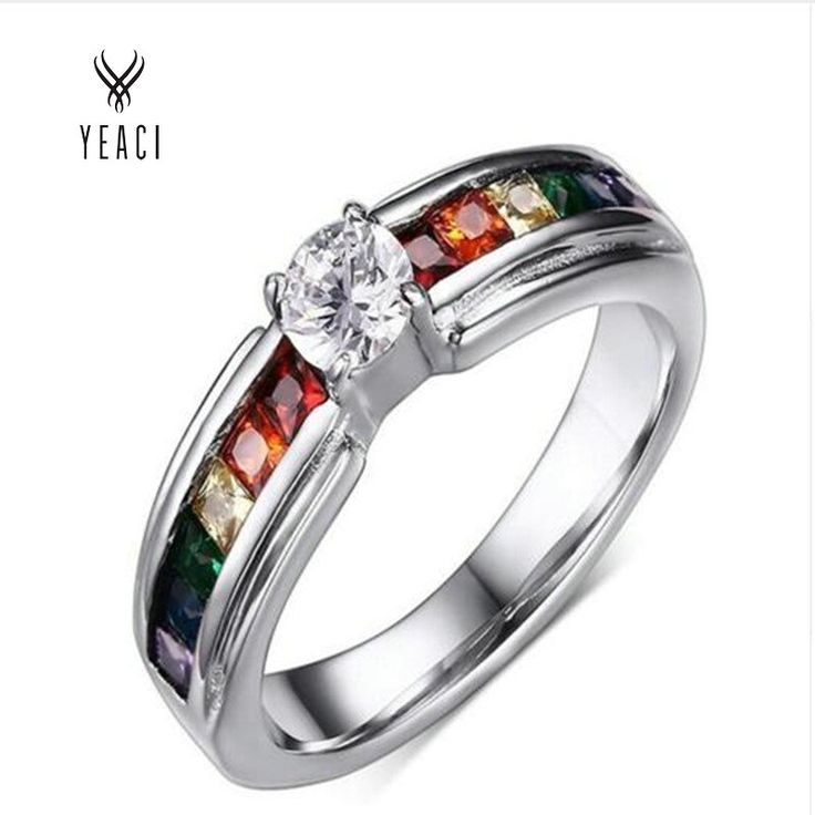 Party Hot Sale Direct Selling Jewelry Womens Cz Rings For Rainbow Ring Jewelry Bridal Sets Fashion Pr-008