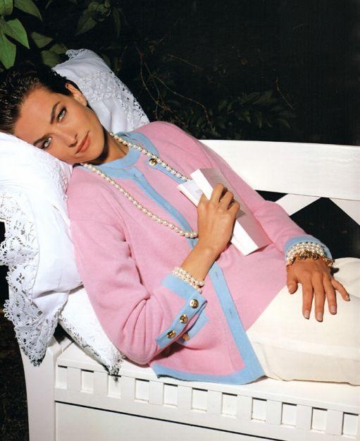 ☆ Tatjana Patitz   Photography by Karl Lagerfeld   For Chanel Campaign   1991 ☆ #tatjanapatitz #karllagerfeld #chanel #1991