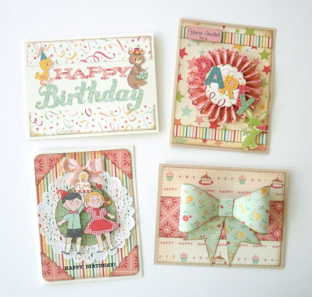 October Afternoon cards