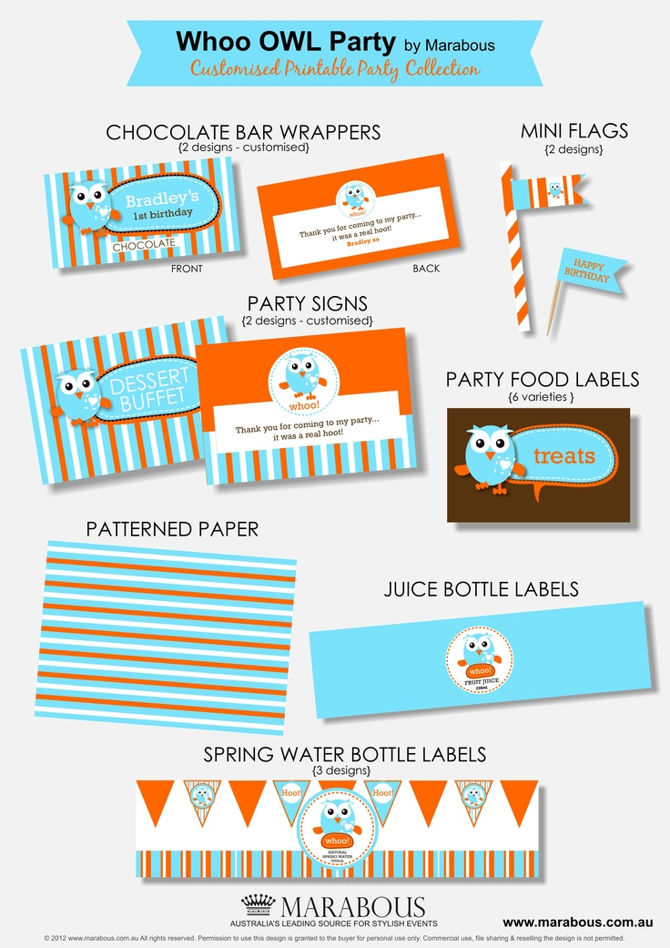 Hoot Inspired Party Printables
