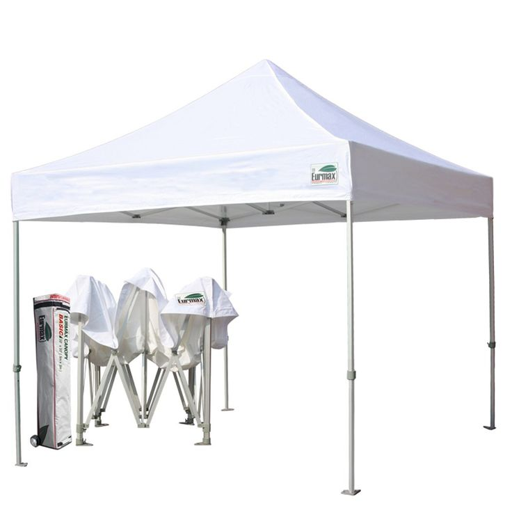 Eurmax Basic 10x10 Pop up Canopy, Instant Tent, Outdoor Party Gazebo, Commercial Level, with Wheeled Storage Bag (White)