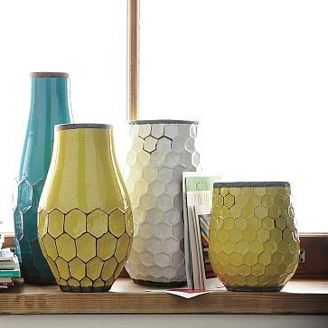 I usually try to stick to handmade ceramics, but I love this honey comb shape. West Elm. $24 - $34.