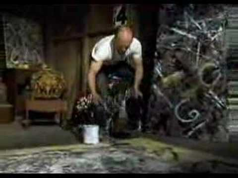 Jackson Pollock painting (1950)    What makes something art? Who is an artist? Compare this with videos of an elephant painting: http://www.elephantart.com/catalog/homepage.php
