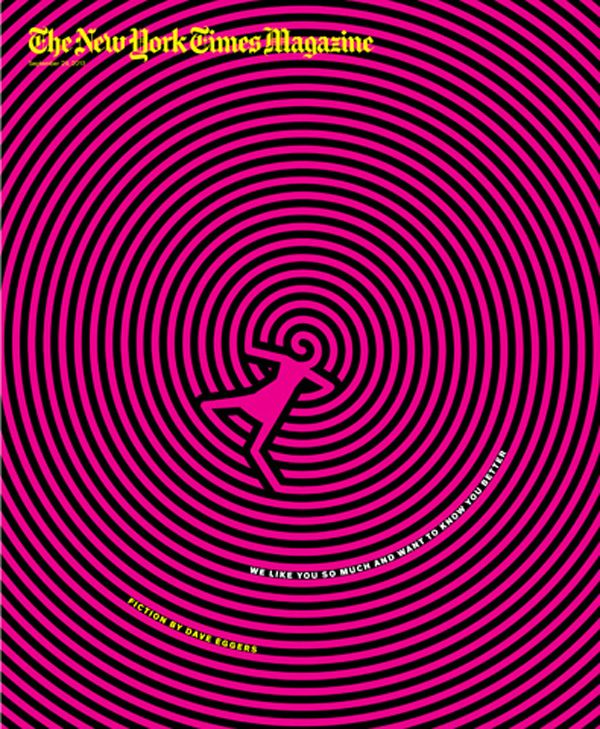 Awesome Op Art illustration on cover of New York times Magazine  Sept 2013