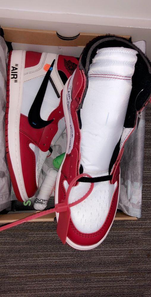 1e30f5f9de572c jordan 1 retro high off-white chicago  fashion  clothing  shoes  accessories   mensshoes  athleticshoes (ebay link)