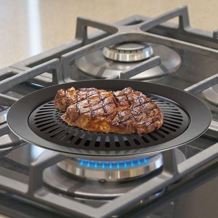 "12.5"" Smokeless Non-Stick Grill Pan"