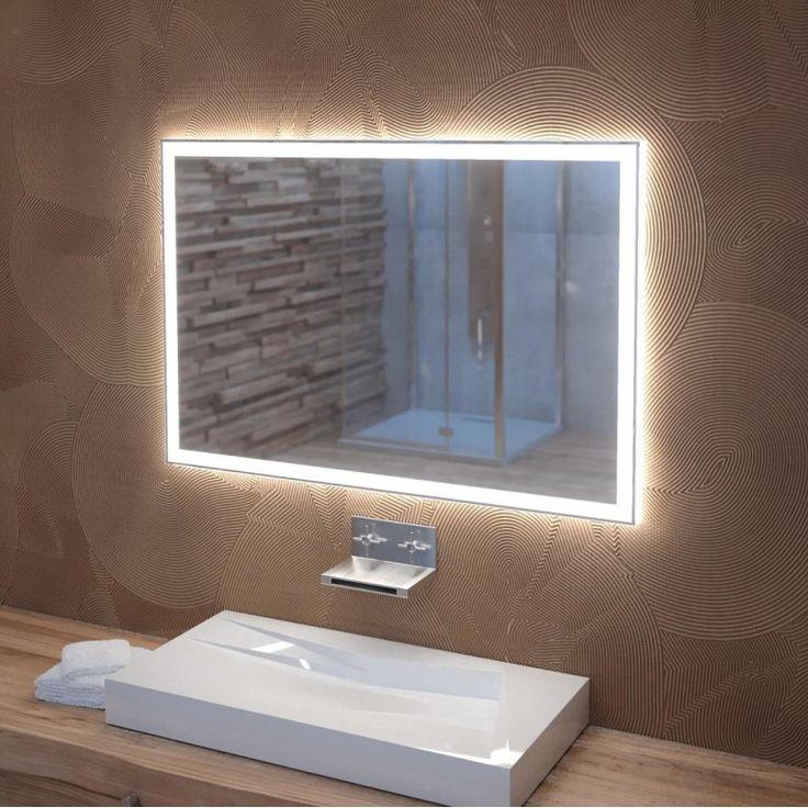 espejo de baño con luz led | Espejos para baños, Espejo ...