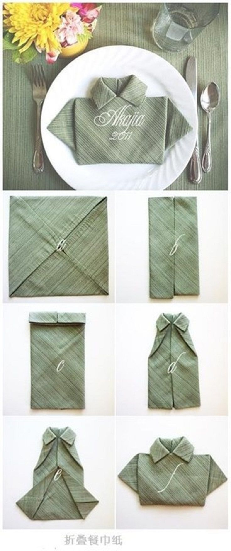 325 best Unique Napkin Folds images on Pinterest | How to fold ...
