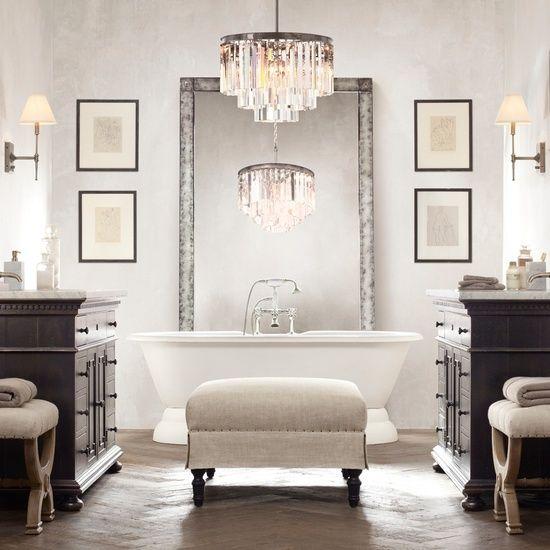 Attractive Best 25+ Bathroom Chandelier Ideas On Pinterest | Master Bath, Bathtub  Ideas And Bath Tubs