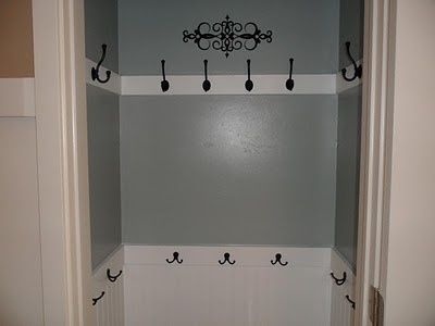 coat closet....more likely to hang coats in here than on a hanger.....so much easier!!