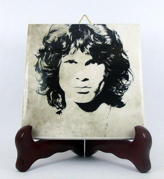 Jim Morrison The Doors Ceramic Tile  Handmade by TerryTiles2014