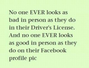 nice Is Your Facebook Profile Picture Current?  Huh....