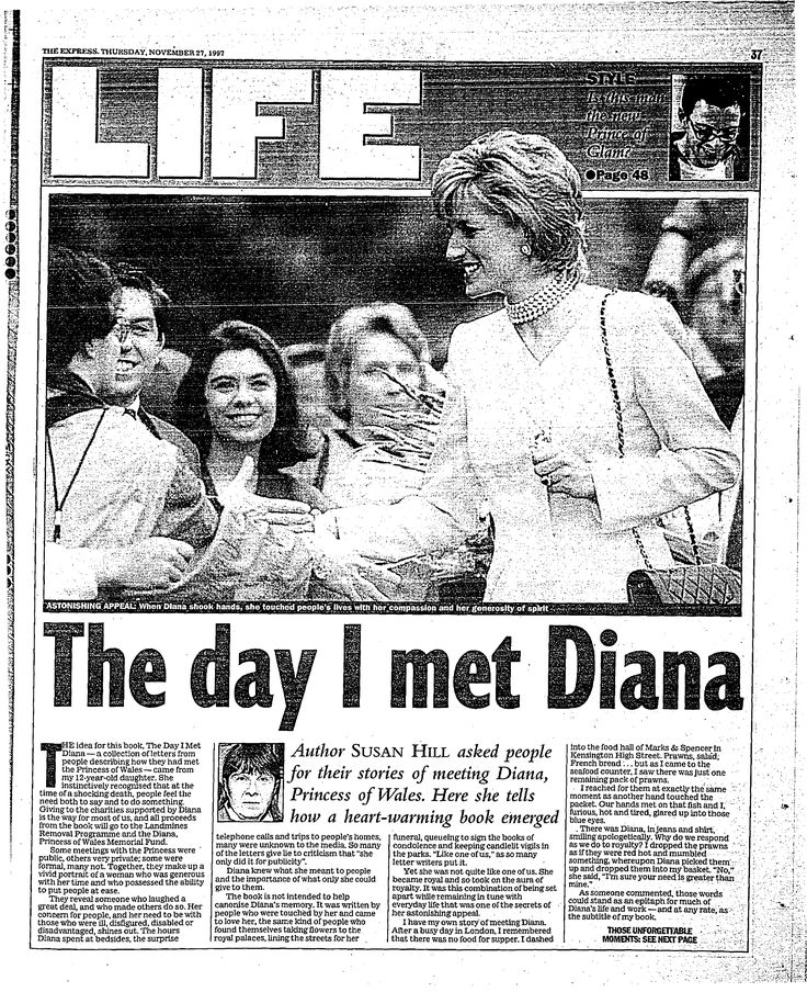 The Day I Met Diana Our Princess Diana news article today