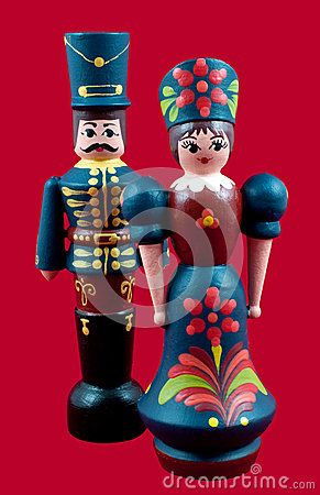 Traditional Hungarian wooden painted dolls, as inTHE GOOD MASTER by Kate Seredy. For fun, multisensory ways to connect kids to this story, get instant access to the LitWits Kit at https://litwits.com/the-good-master/