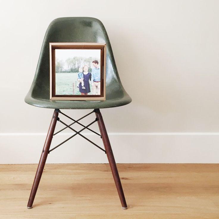 Tonki picture on cardboard vintage dark olive green dsw