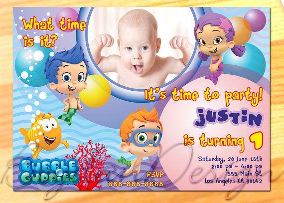Bubble Guppies Invitation with Photo  Bubble by BogdanDesign, $7.99