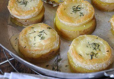 Tartine de pomme de terre au chèvre chaud - Recette Interfel - Les fruits et légumes frais