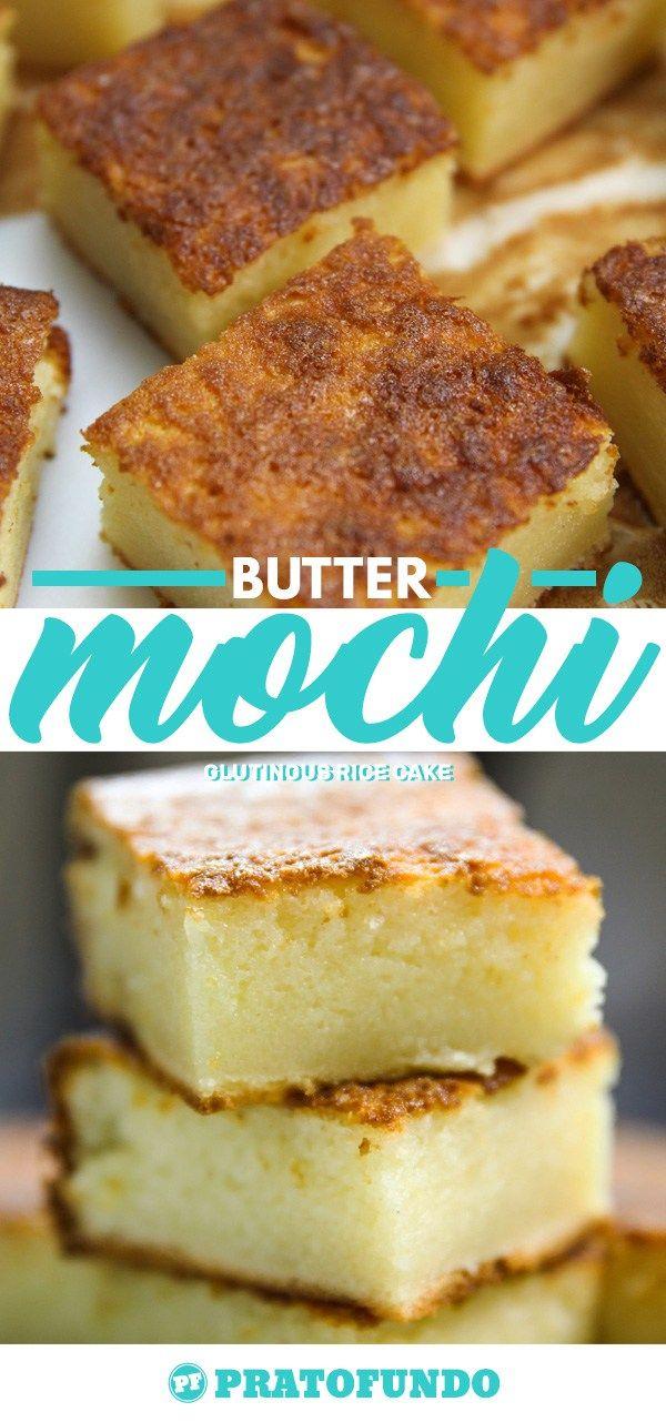 Butter Mochi: Glutinous Rice Cake with Coconut from Hawaii | Butter Mochi: Bolo de Arroz Glutinoso e Coco do Hawaii por PratoFundo.com