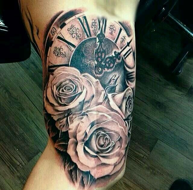 The 25 Best Clock And Rose Tattoo Ideas On Pinterest Clock Tattoos Clock With Roses Tattoo