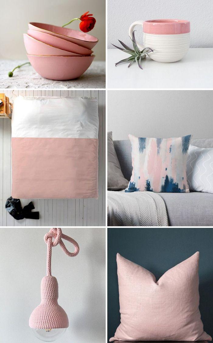 Deco Salon Rose Poudré Et Gris ▷ 1001 + exemples inspirants pour une déco rose poudré