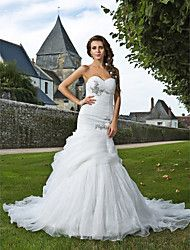 Lanting Bride® Trompeta / Sirena Tallas pequeñas / Tallas Grandes Vestido de Boda - Elegante y Lujoso Primavera 2013 Capilla Corazón